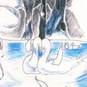 Une danseuse sur le lac, faite devant Les Révoltés du Bounty.