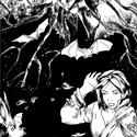 """Dans le conte """"Oiseaux de vie"""", Lysandre a été banni il y a peu de temps par les Bois. Sa faute est encore mystérieuse. Il est venu dans la forêt pour protéger son entourage mais il est attaqué en permanence par des esprits sombres des Bois. Il vit dans les bas fonds la plupart du temps."""