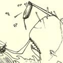 Scène finale de Moby Dick pour commencer mon nouveau carnet, après X temps sans dessiner (vous finissez par avoir l'habitude de lire ça !)